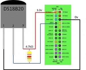 Anschluss-DS18B20